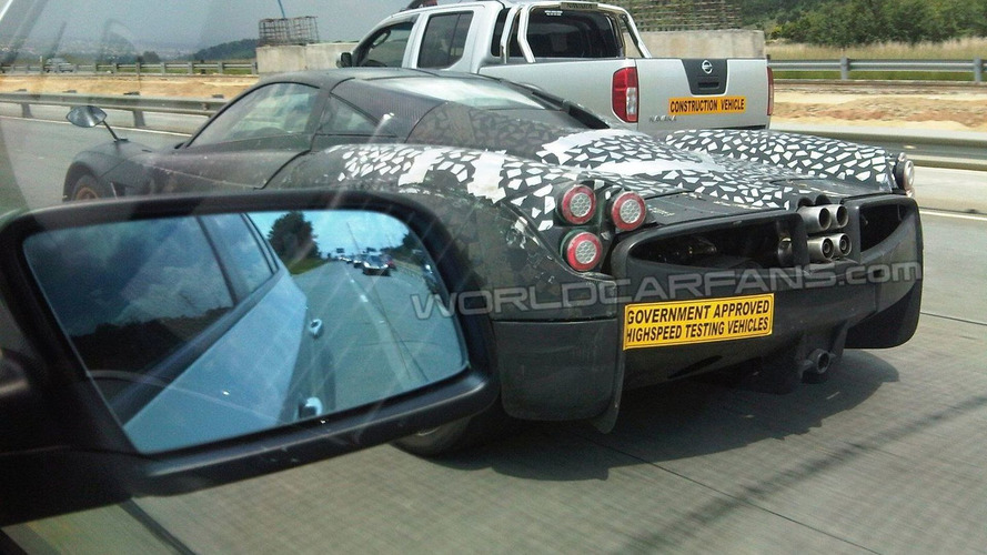 Pagani C9 Deus Venti spied [video]