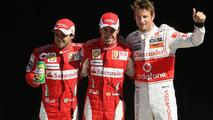 Fernando Alonso (ESP), Scuderia Ferrari, Felipe Massa (BRA), Scuderia Ferrari and Jenson Button (GBR), McLaren Mercedes - Formula 1 World Championship, Rd 14, Italian Grand Prix, Saturday Qualifying, 11.09.2010 Monza, Italy