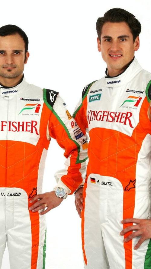 Force India retains Sutil, Liuzzi