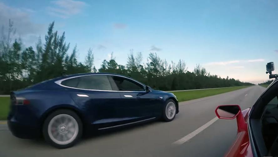 Tesla Model S P100D vs. Lamborghini Huracan; RIP combustion engines