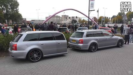 You're Not Seeing Double: Audi RS4 Avant Has Matching Trailer