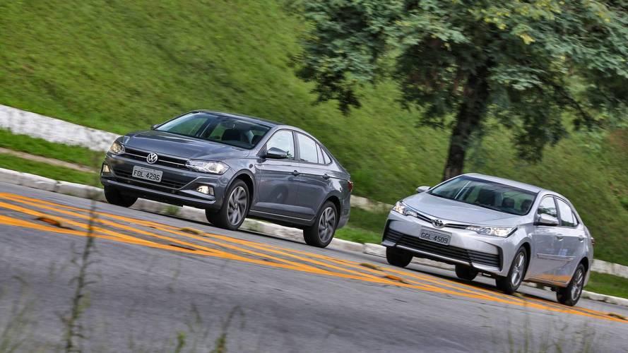 Comparativo VW Virtus Highline x Toyota Corolla GLi - Invasão de terreno