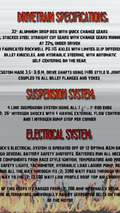 Sin City Hustler specifications