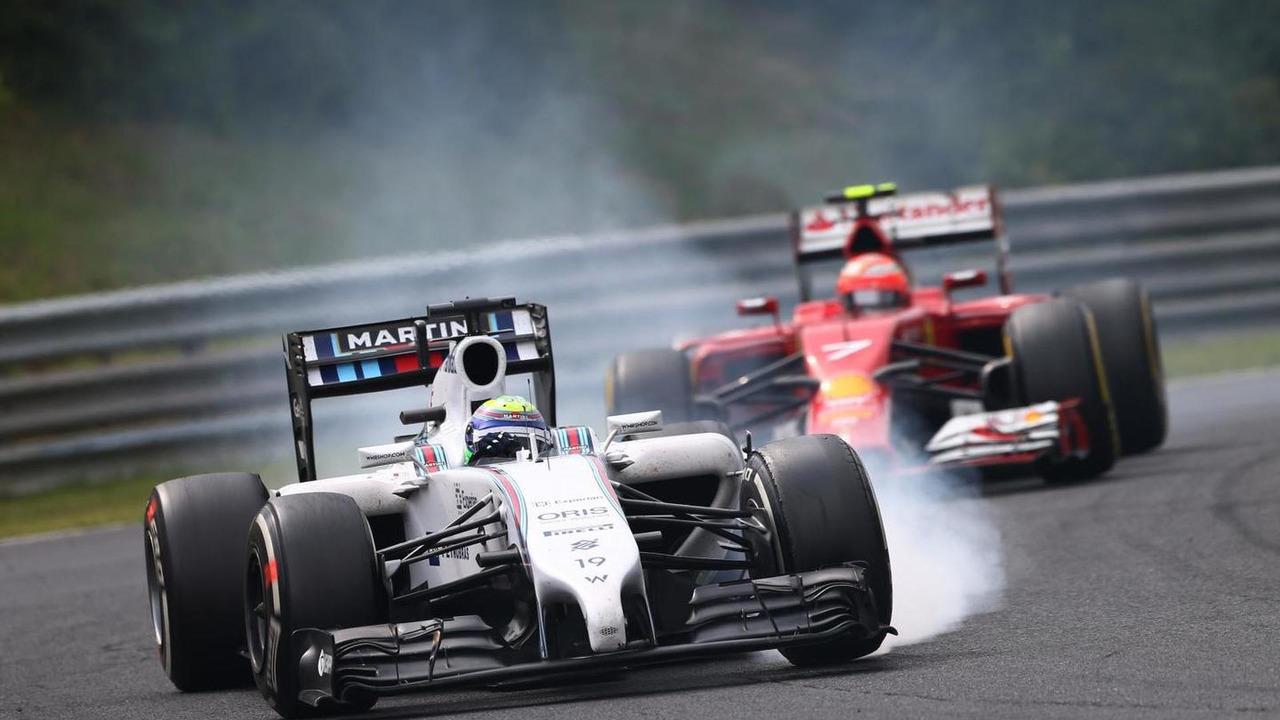 Felipe Massa (BRA) leads Kimi Raikkonen (FIN), 27.07.2014, Hungarian Grand Prix, Budapest / XPB
