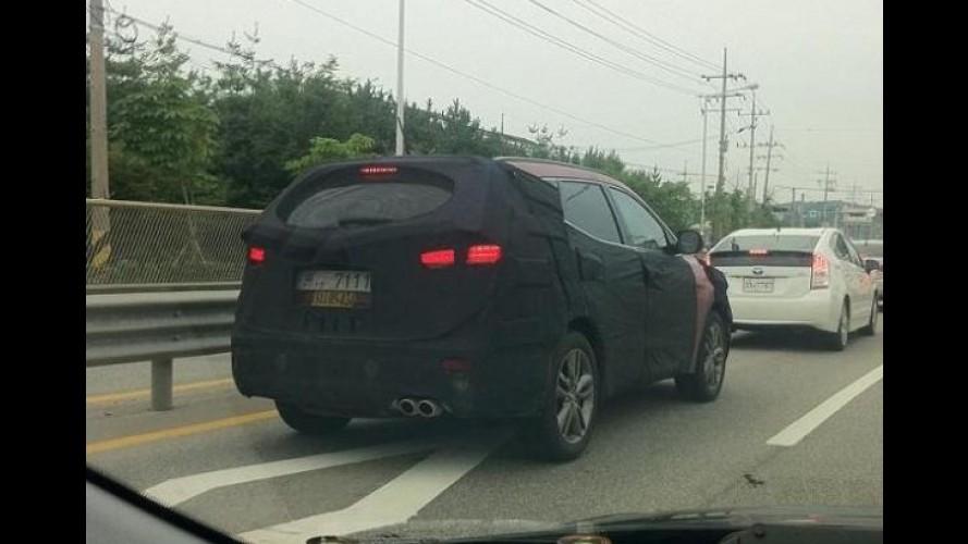 Flagra: Hyundai já testa nova geração do Santa Fe na Coreia do Sul