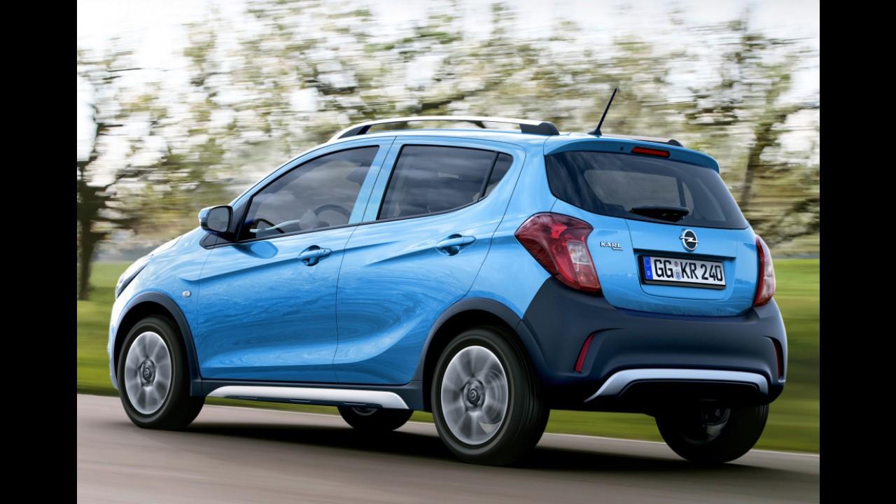 """Rival do VW CrossUp!, """"aventureiro"""" Opel Karl Rocks é revelado antes da estreia"""
