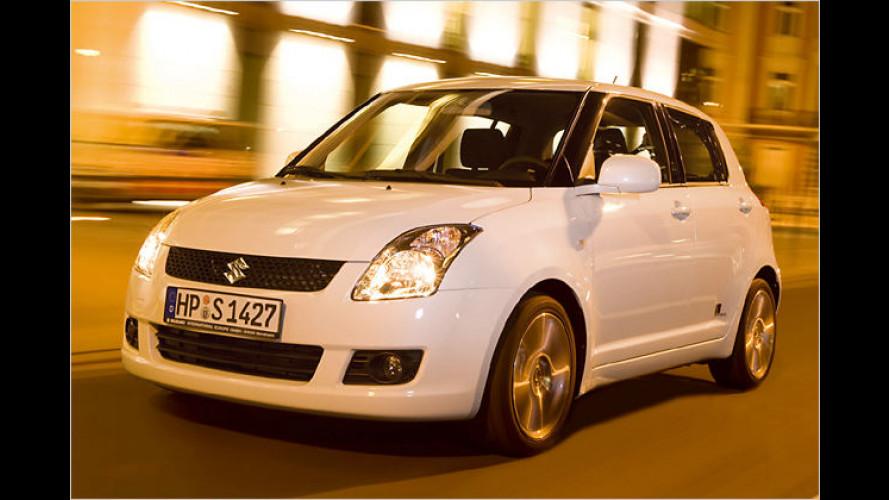 Hoher Unterhaltungswert: Suzuki Swift ,Black and White