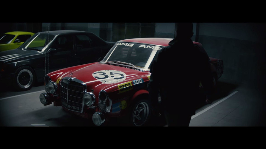 Lewis Hamilton Admires AMG 300 SEL 6.8 In Project One Teaser