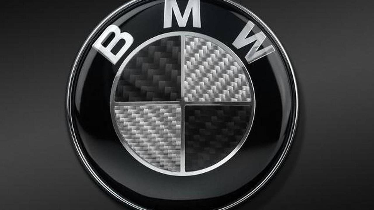 BMW carbon fiber badge
