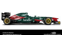 Retro F1 car - Alfa Romeo 1985