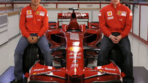 Ferrari F2008 with drivers
