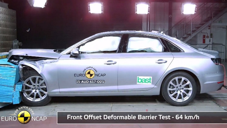 Audi A4 obtains five-star rating in Euro NCAP crash test [video]
