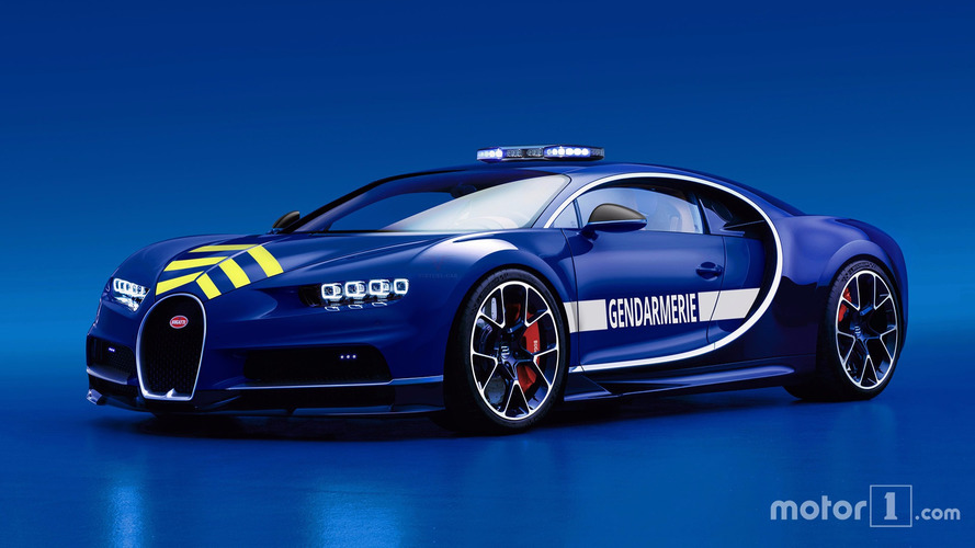 Exit la Mégane R.S., Bugatti livre sa première Chiron à la Gendarmerie !