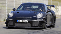2018 Porsche 911 GT2 new spy photos from the Nurburgring