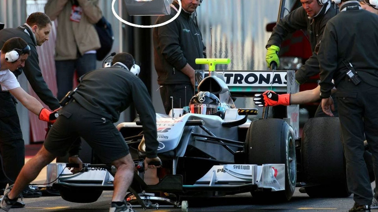 Michael Schumacher (GER), Mercedes GP testing traffic light system, 26.02.2010, Barcelona, Spain