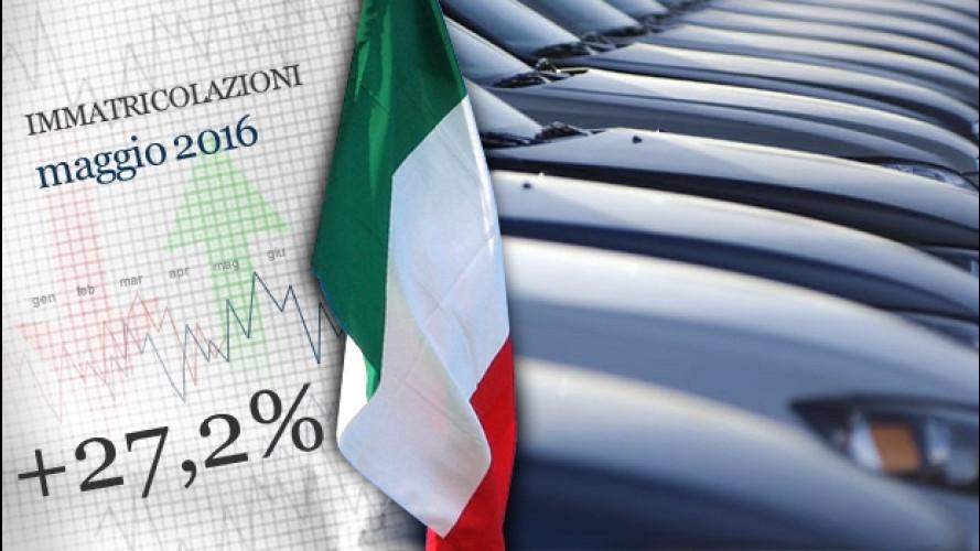 Mercato auto, l'Italia a maggio ha volato alto