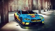 BMW M8 GTE Art Car Rendering