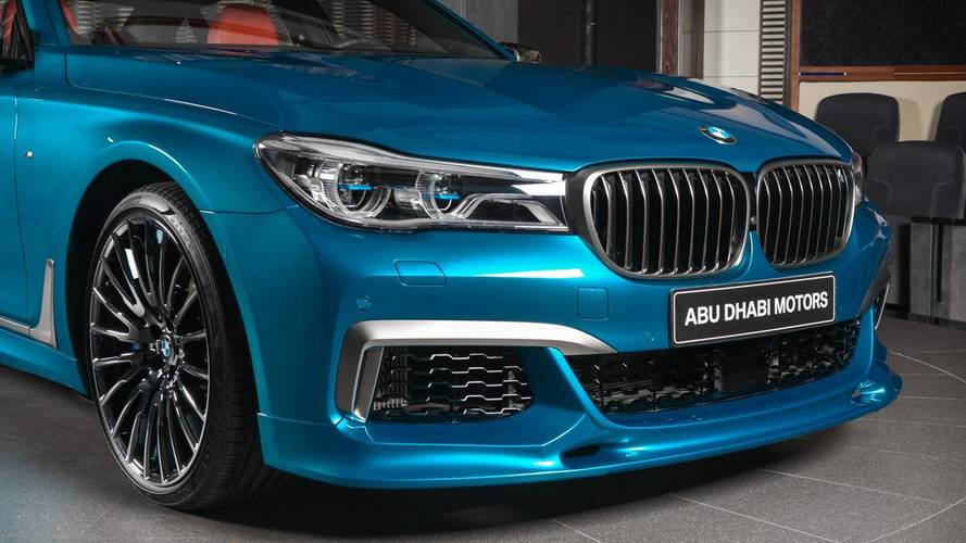M760li Individual Long Beach Blue Is Bmw Abu Dhabi S