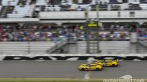 #4 Corvette Racing Chevrolet Corvette C7.R: Oliver Gavin, Tommy Milner, Marcel Fässler, #3 Corvette Racing Chevrolet Corvette C7.R: Antonio Garcia, Jan Magnussen, Mike Rockenfeller take the checkered flag