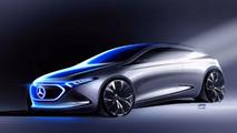 Mercedes Concept EQ A Teaser Sketch