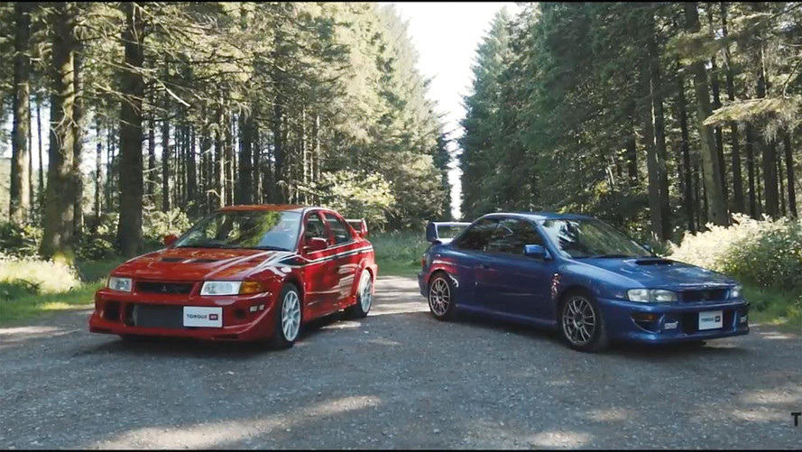 Subaru Impreza 22B Faces Off Against Mitsubishi Lancer Evolution