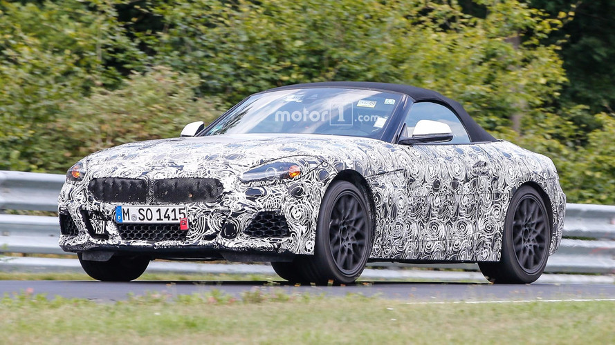 2018 BMW Z4 new spy images from the Nurburgring