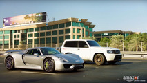 Drag race Porsche 918 Spyder vs Nissan Patrol