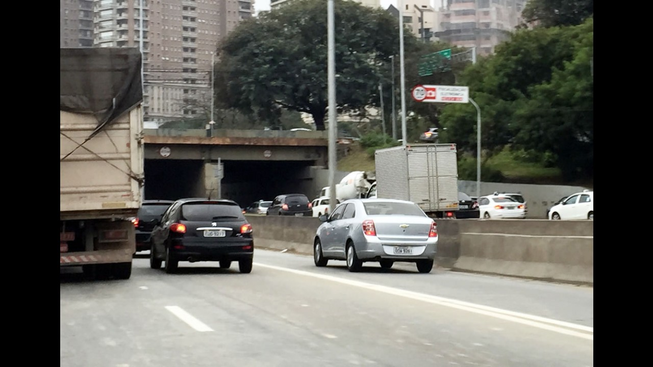 Marginais de SP terão velocidade reduzida para 70 km/h em julho