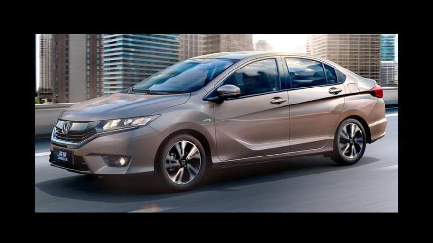 Veja a galeria de fotos oficiais do Honda Greiz, novo City chinês