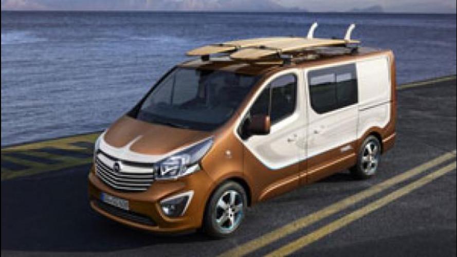 Opel Vivaro Surf Concept, van all'aria aperta