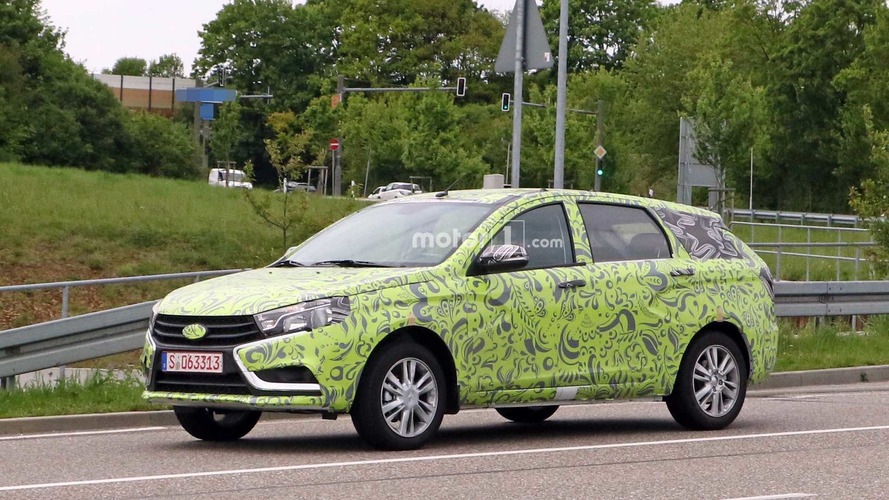 Lada Vesta Wagon Spied With The Most Ineffective Camo Ever