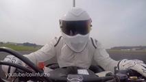 The Stig from Top Gear sets a Guinness top speed record for bumper cars