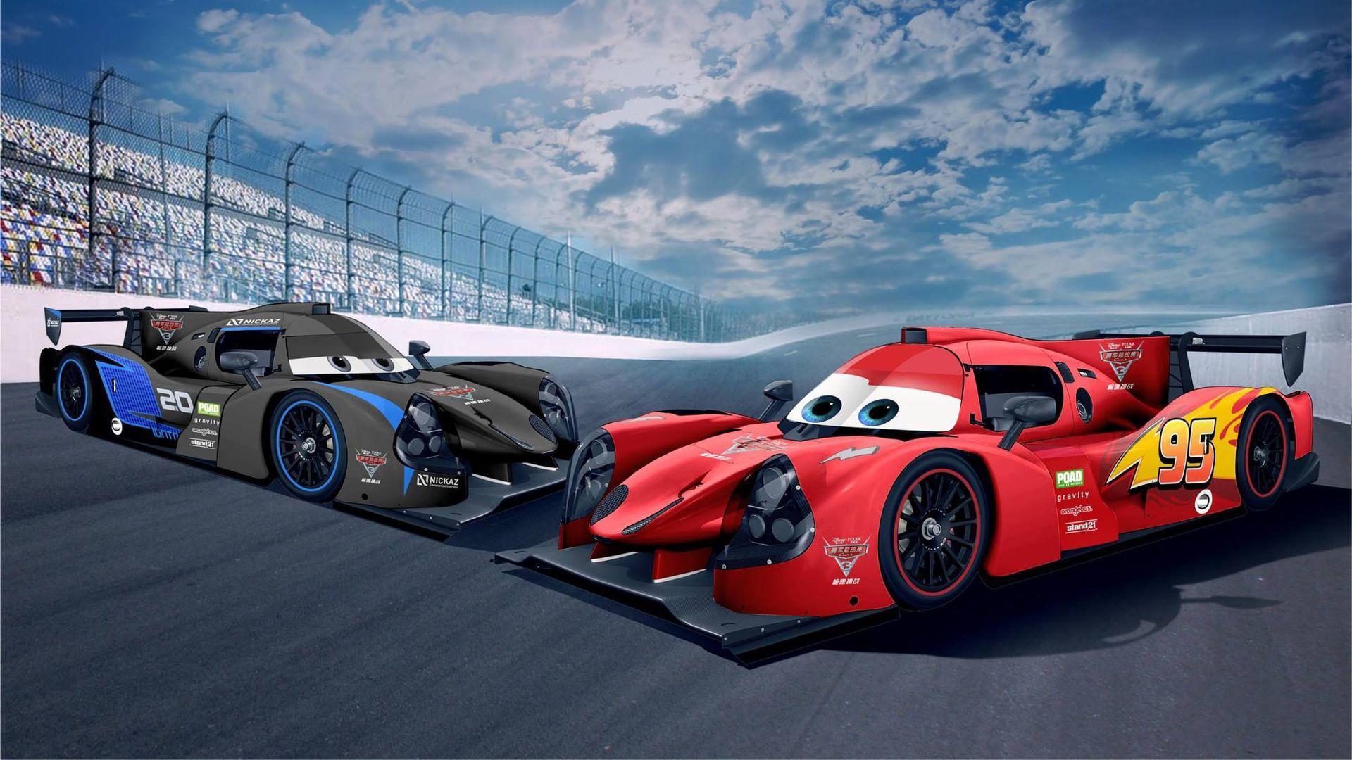 Race Cars Get Lightning Mcqueen Jackson Storm Liveries