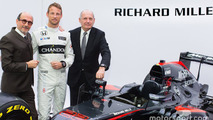 Jenson Button, McLaren, Ron Dennis, McLaren Technology Group Chairman and CEO and Richard Mille, Chairman and CEO of Richard Mille