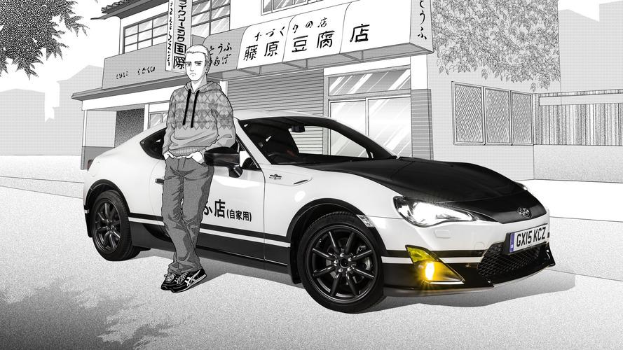 Toyota GT86, Initial D konseptiyle Japon manga serisine saygılarını sunuyor