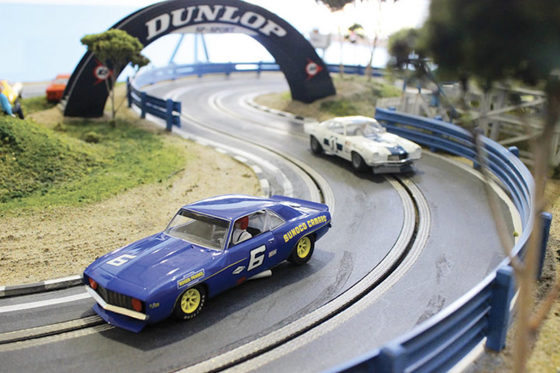 Perfect for the Mancave: Life-size Camaro and Porsche 917 Slot-car Tracks