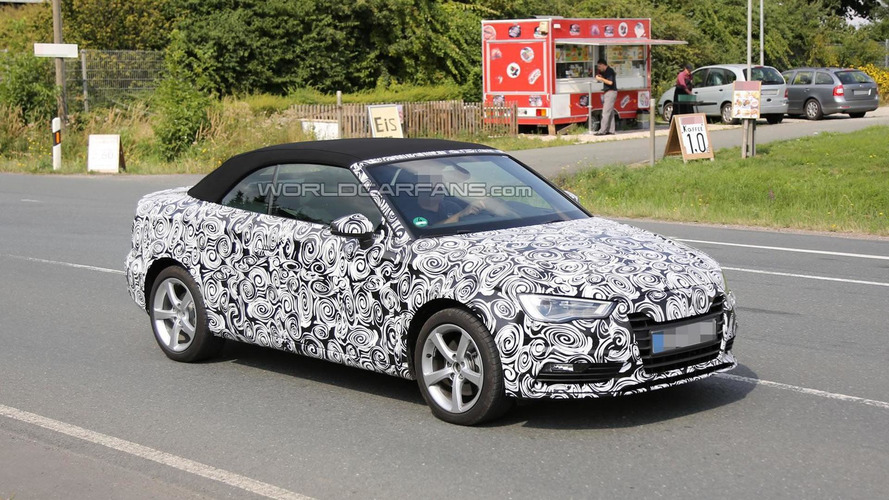 2014 Audi A3 Cabrio spied with the top up