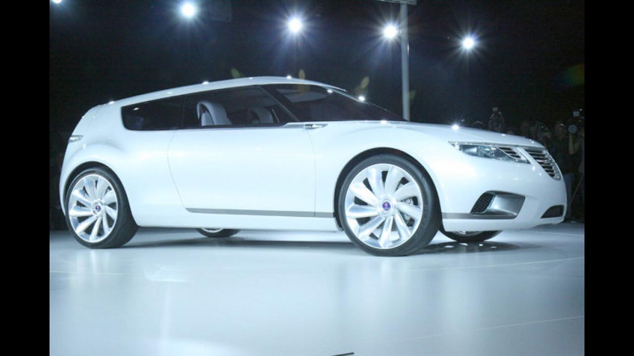 Kompakter Nordmann: Die Studie 9-X BioHybrid von Saab könnte 2012 in Serie gehen und soll im Revier des VW Golf wildern