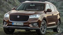 Borgward BX7 with different front grille render