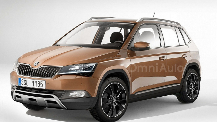 Skoda sub-Yeti crossover speculatively rendered