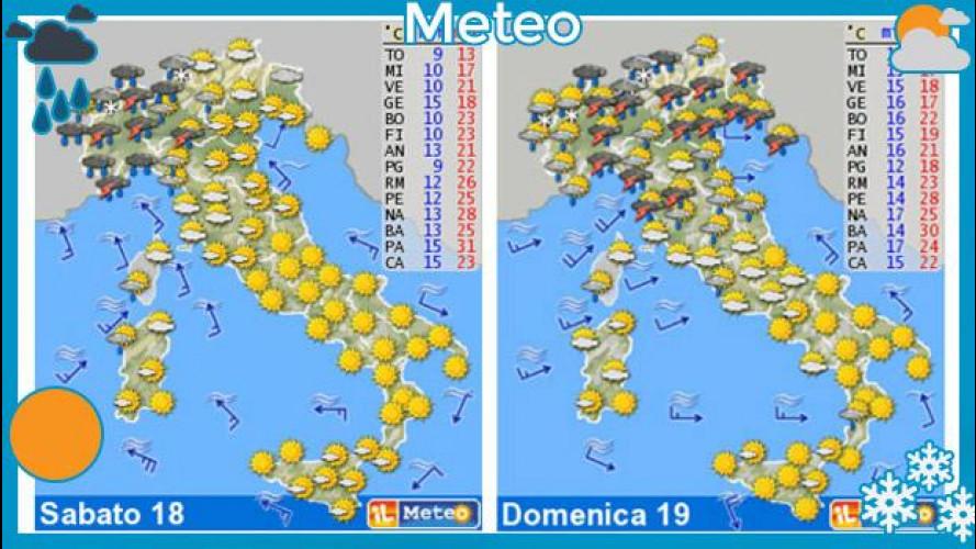 Meteo del fine settimana 18 e 19 maggio: sole a metà
