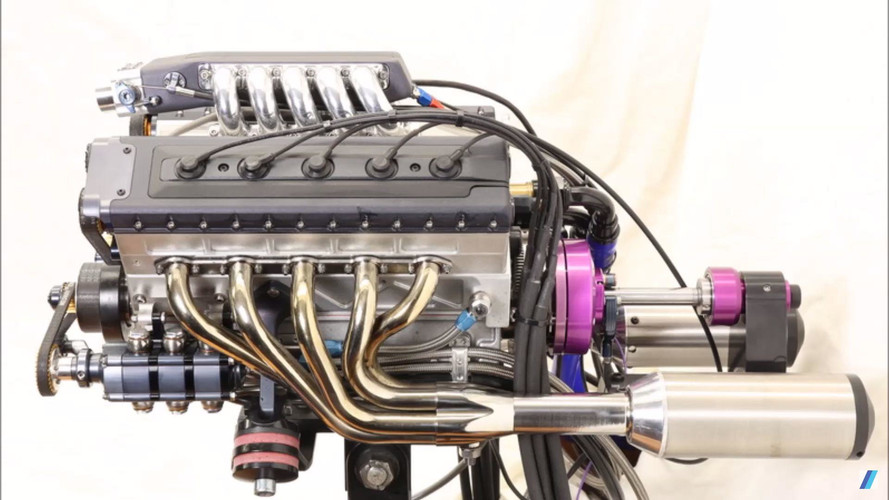 Ev yapımı V10 motor sadece 125cc hacimli