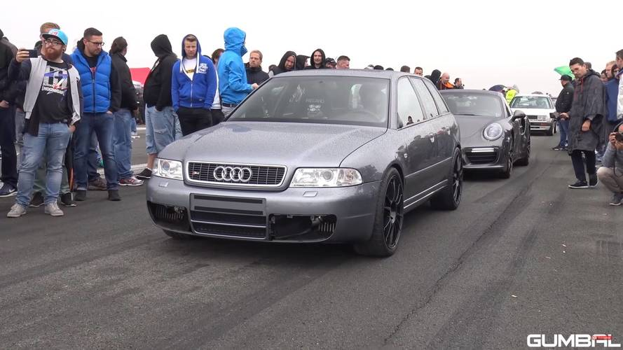 Így gyorsul az 1200 lóerős Audi S4 B5 Bi-Turbo Avant