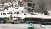Snowstorm causes bumper car-like mayhem in Montreal