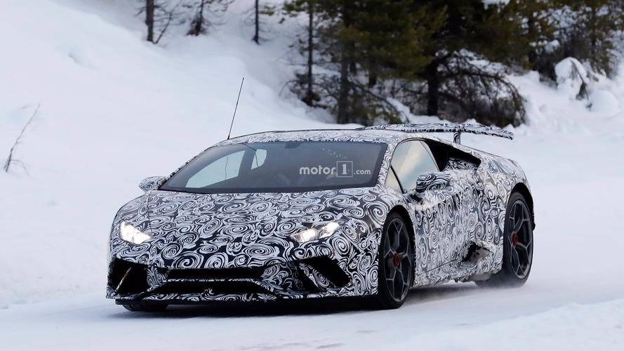 Lamborghini Huracan Superleggera kış testleri casus fotoğrafları