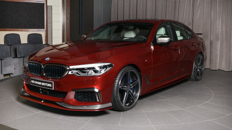 bmw m550i xdrive aventurine red with ac schnitzer body kit. Black Bedroom Furniture Sets. Home Design Ideas