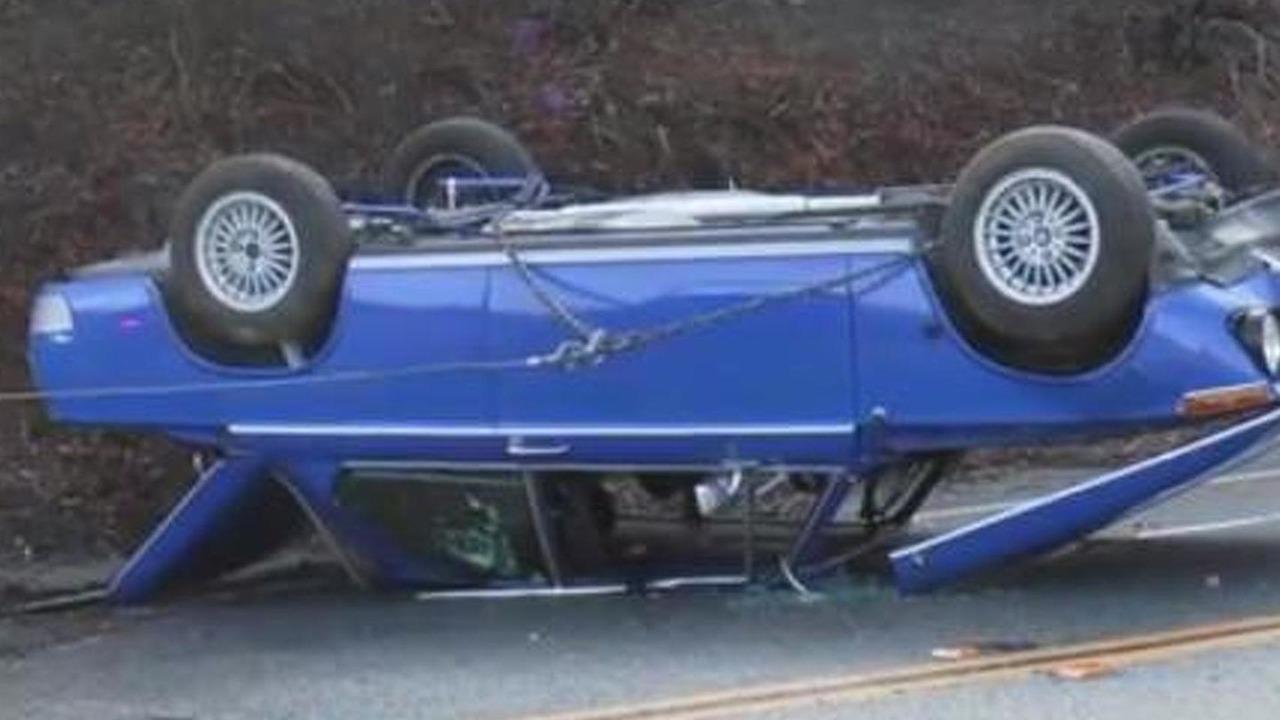 Restored BMW 2002 accident