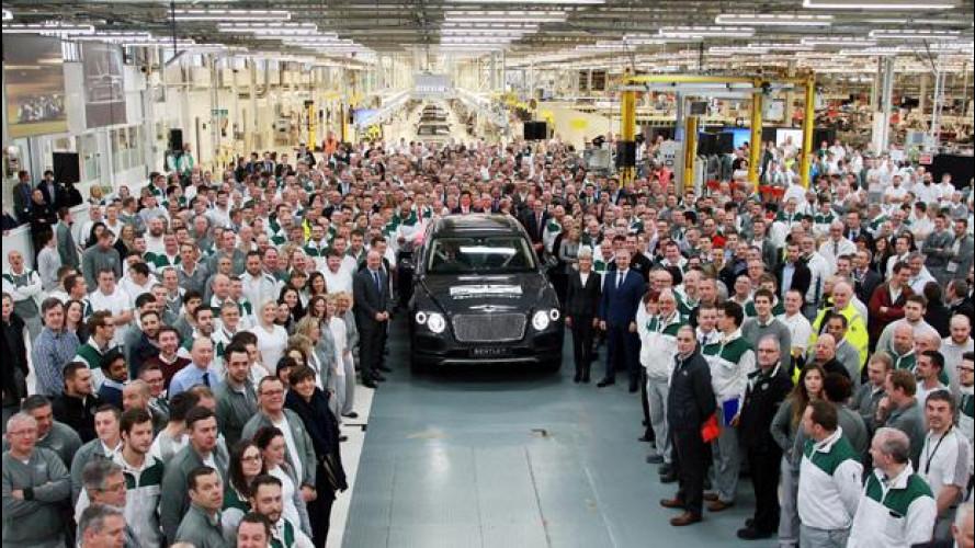 Bentayga, avviata la produzione più costosa nella storia di Bentley