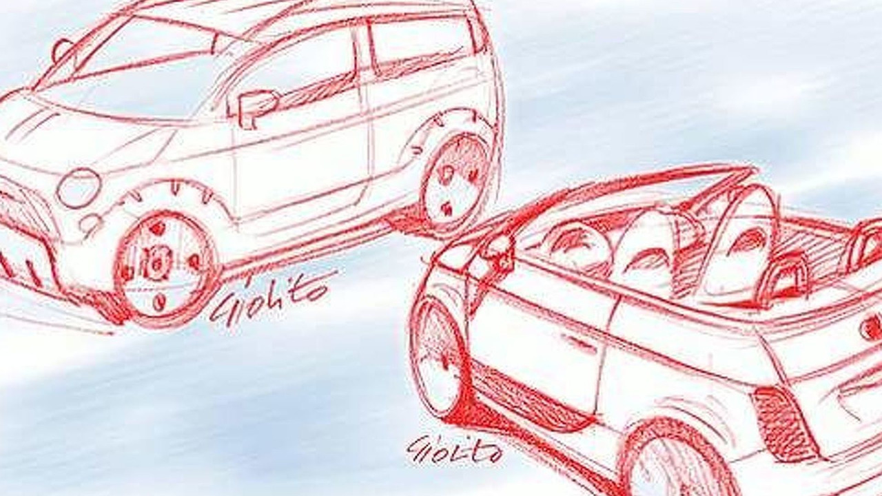 Sketches of the Fiat 500 models