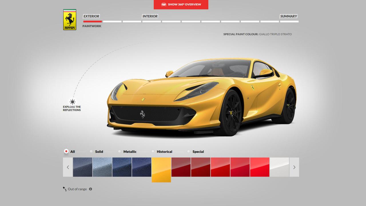Ferrari 812 Superfast Configurator